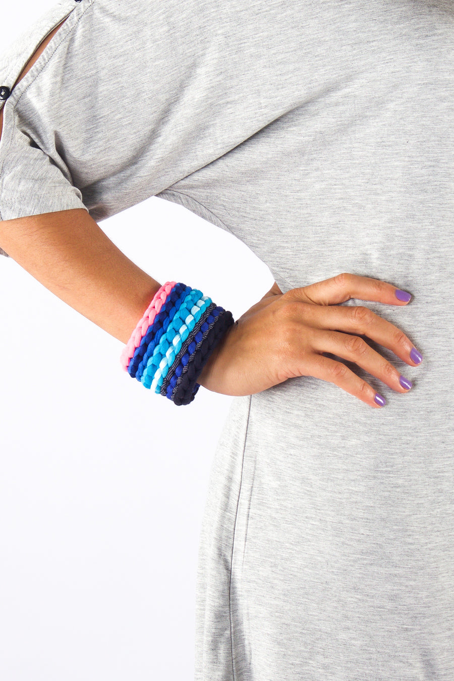 Taikensonzai upcycled yarn Zerelda cuff, available exclusively on ZERRIN