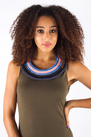 Taikensonzai upcycled yarn Zenya necklace, available exclusively on ZERRIN