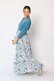 Baliza Island Maxi Dress in Chrysanthemum, available in ZERRIN