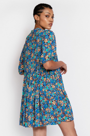 Hide the Label Lilium Short Tiered Dress In Expressive Floral, available in ZERRIN