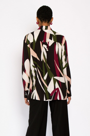 Hide the Label Nerine Longline Shirt in Abstract Floral, available in ZERRIN