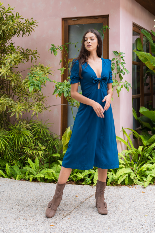 Lily & Lou Rebecca Dress in Navy, available in ZERRIN