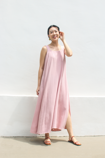 Abundance Dress in Blush by Paradigm Shift, available at ZERRIN