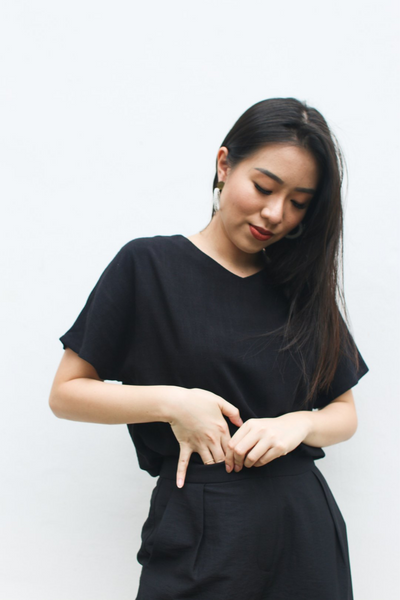 Dignity Top in Black by Paradigm Shift, available at ZERRIN