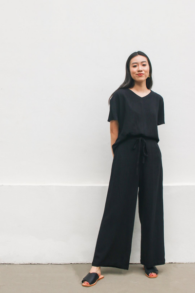 Freedom Pants in Black by Paradigm Shirt, available at ZERRIN
