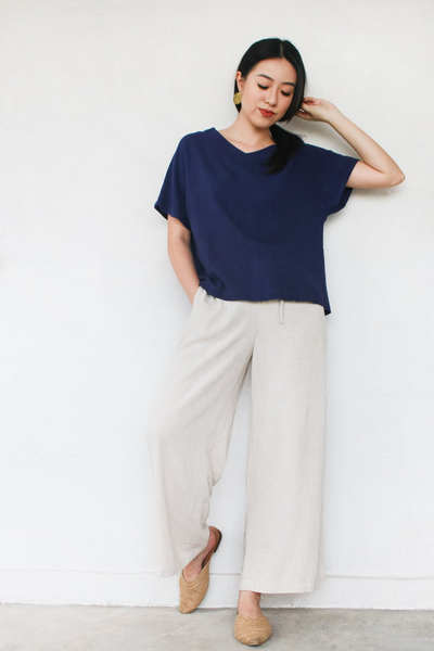 Freedom Pants in Navy by Paradigm Shirt, available at ZERRIN
