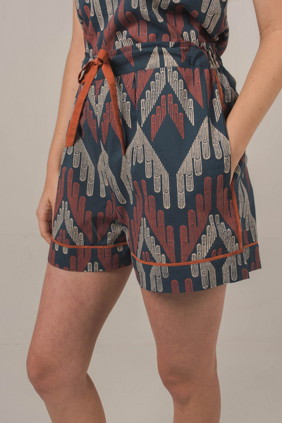 Nost Avraam Shorts in Facade Navy, available on ZERRIN