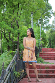 Wray Crafted Padmini Dress in Blue & Peach