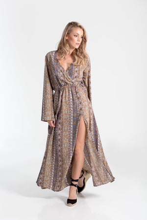 Flowing Anita kaftan dress from Aanya, available at ZERRIN