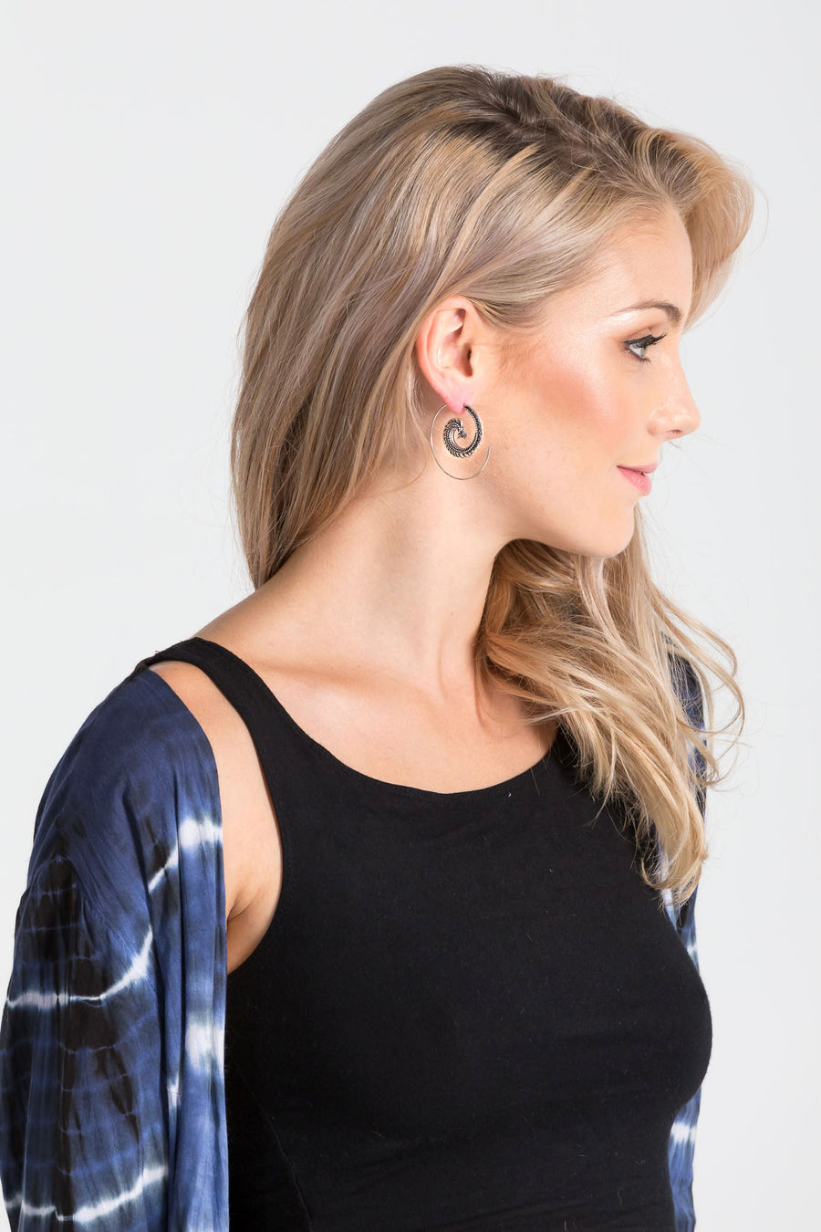 Aanya Peacock Spiral Earrings