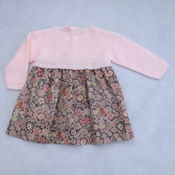 6b00bb027412 ... traditional and luxurious baby girl clothes from Spain. Pink dress with  flowers