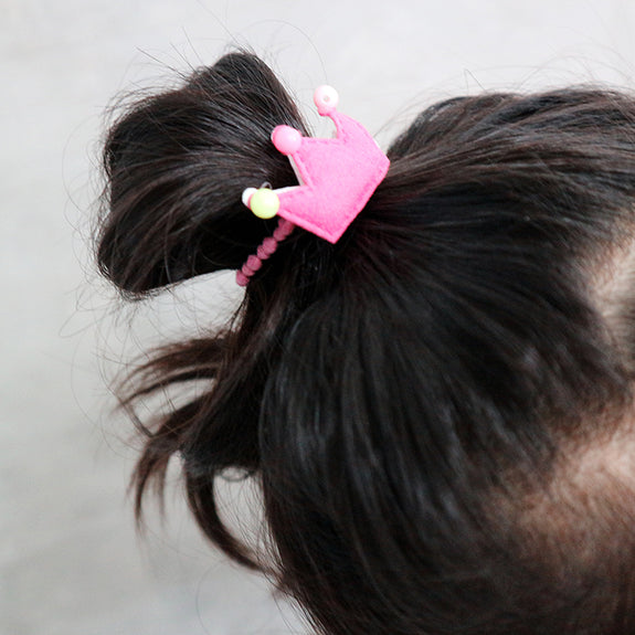Redbow Hair Tie Pastel Crown
