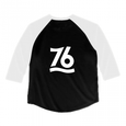 Number76 Original Raglan T-Shirt - Black w/White sleeve
