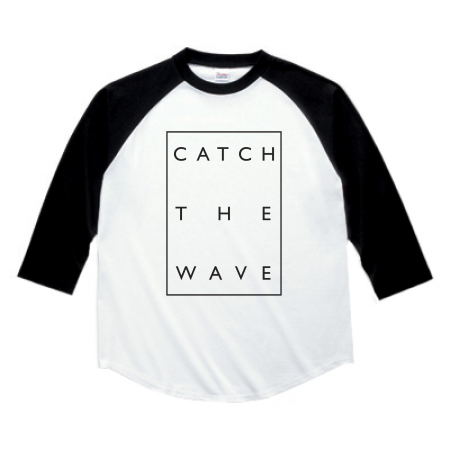 Number76 Original Raglan T-Shirt - White w/Black sleeve