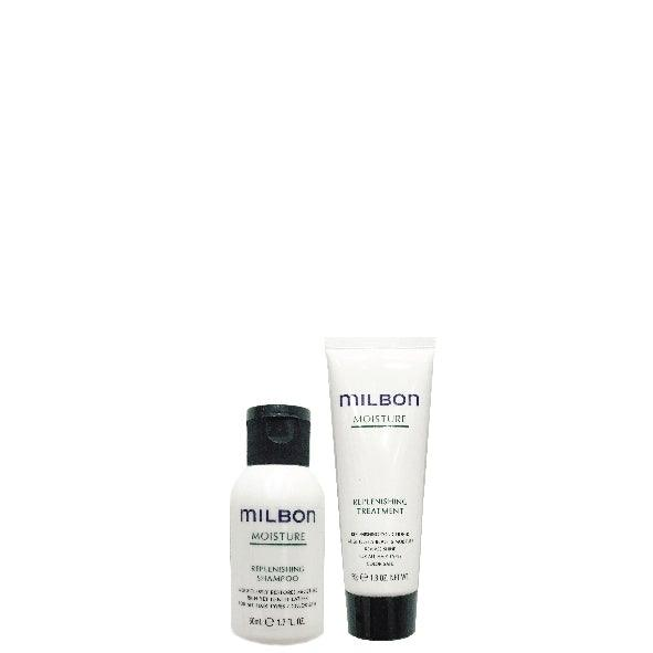Global Milbon Moisture Shampoo & Treatment Travel Set 50ML