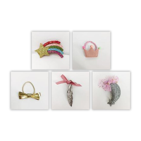 Redbow Hair Clip & Hair Tie VALUE SET