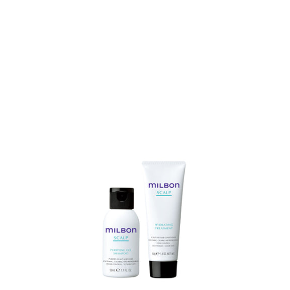 Global Milbon Scalp Shampoo & Treatment Travel Set (50ml)