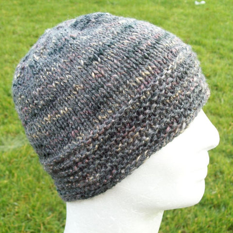 "Knitting Pattern for ""BURREN""  Tweed Wool Beanie Pattern for Women and Men/ Easy/ Knit in the Round"