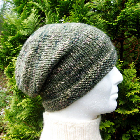 BOGLAND Handknit Slouchy Tweed Wool Beanie for Women, Men and Teens