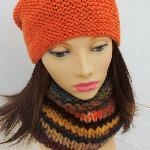 BUENOS AIRES COWL Scarf Multicoloured Chunky Handknit Woolen Cowl for Women and Teens