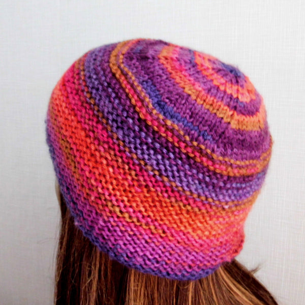 """NATALIA"" Knitting Pattern for Womans Pillbox Style Hat"
