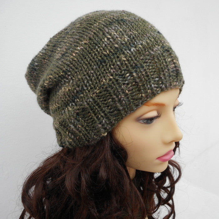 Knitting Pattern For Charley Slouch Beanie For Men Women And