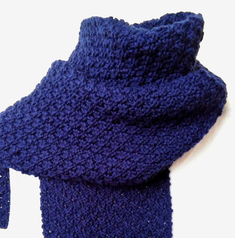 Knitting Pattern for GARRYVOE SCARF Long Woolen Textured Scarf for Women, Men and Teens