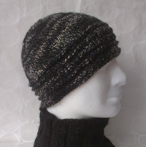 """BURREN"" KNITTING PATTERN Handknit Beanie for Women and Men/ Easy/ Knit in the Round"