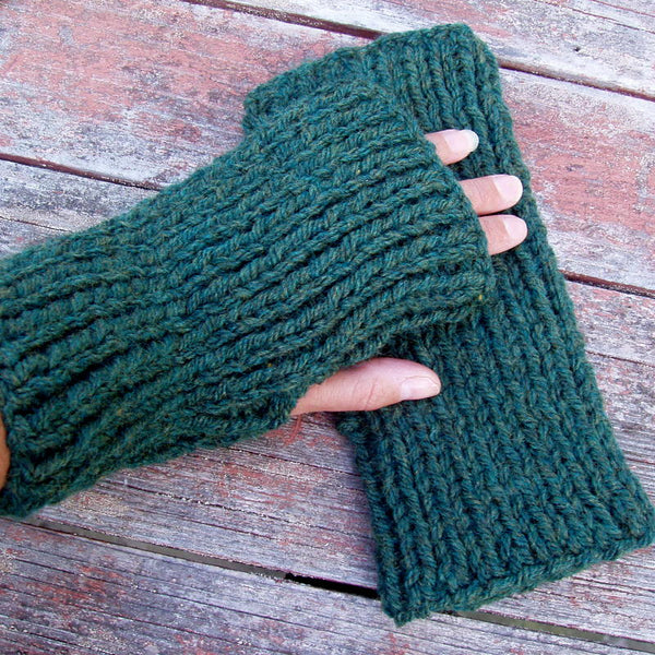 "Knitting Pattern for ""DARA"" Fingerless Gloves/ Easy Glove Pattern/ Mens Chunky Knit Glove Pattern"