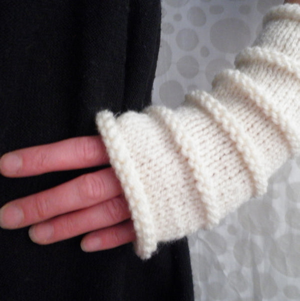 "Knitting Pattern for ""OSLO"" Fingerless Gloves for Men, Women and Teens- 3 Sizes 3 Lengths/EASY"