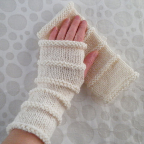 """OSLO"" Fingerless Glove Knitting Pattern -for Men, Women and Teens- 3 Sizes 3 Lengths"