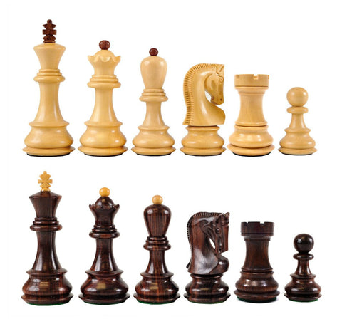 Sage Arcade Zagreb Wood Chess Pieces Rosewood Chess WBG