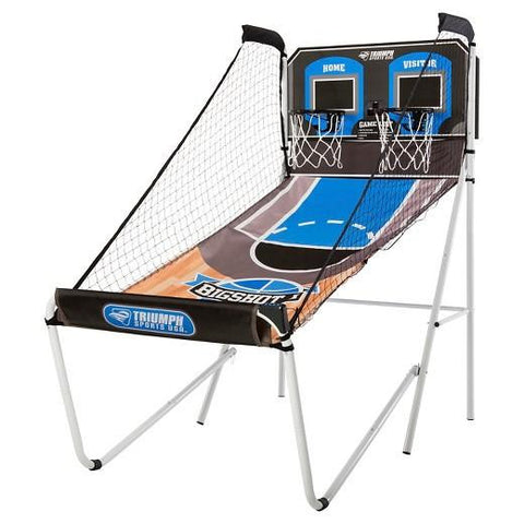 Sage Arcade Triumph Big Shot 8-in-1 Indoor Arcade Basketball Hoop Shootout Basketball Triumph
