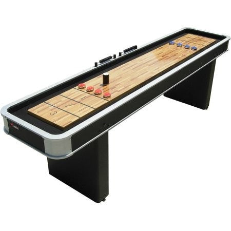 Sage Arcade Atomic 9 ft. Platinum Shuffleboard Table Shuffleboard Tables Atomic