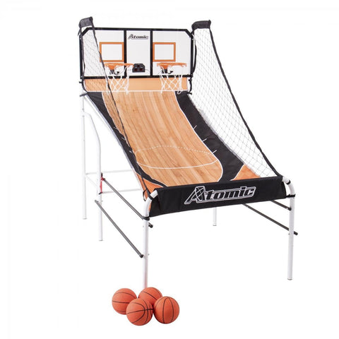 Sage Arcade Atomic Slam Dunk Indoor Arcade Basketball Hoop Shootout Basketball Atomic