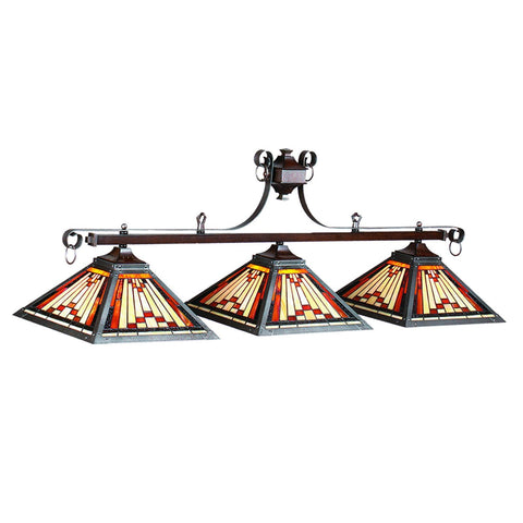 Sage Arcade RAM Gameroom Stained Glass Billiard Lighting 25-B54 Billiard Lighting RAM