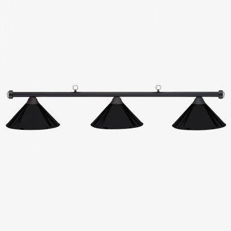 Sage Arcade HJ Scott Matte Black Bar 3-Shade Metal Light Lighiting Standard Lighting