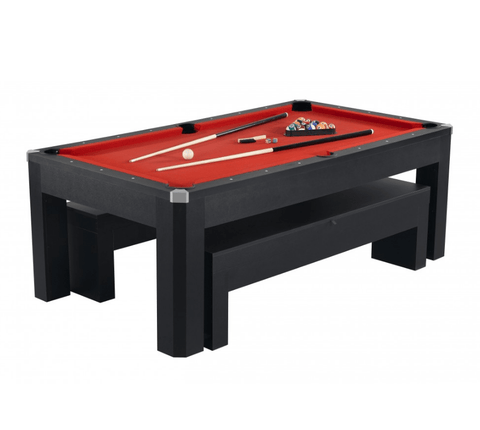 Sage Arcade Hathaway Park Avenue 7' Pool Table Set With Benches & Top Pool Tables Carmelli
