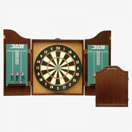 Sage Arcade CABSET2010 DMI® Recreational Dartboard Cabinet (Rosewood) Dart Cabinets & Backboards DMI