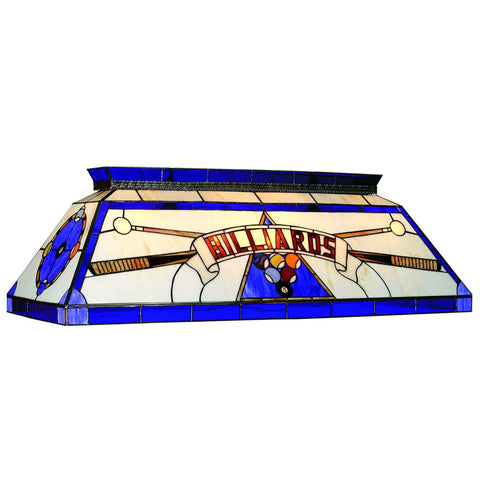 Sage Arcade RAM Gameroom Stained glass Billiard Lighting CF BILLIARD BLU Billiard Lighting RAM