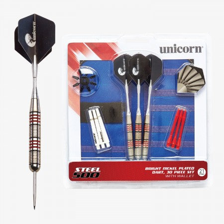 Sage Arcade D71823 Unicorn® Steel Tipped 500 Dart Set Darting Unicorn