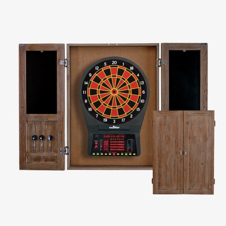 Sage Arcade DBCJAG HJ Scott® St. James Dartboard Cabinet, Antique Grey Dart Cabinets & Backboards HJ Scott
