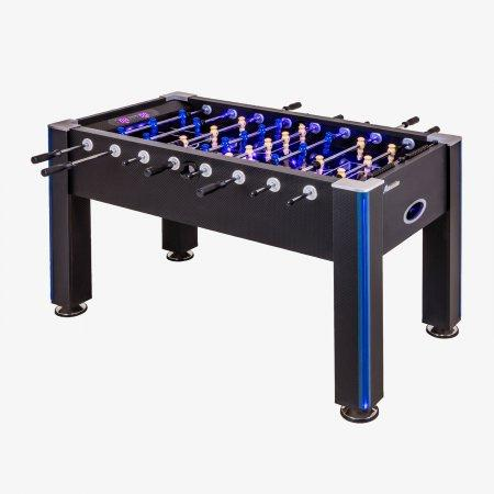 Sage Arcade G01344W Atomic™ Azure Foosball Table Game Table Cueandcase