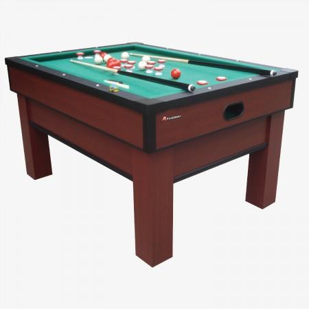 Sage Arcade G02251AW Atomic Classic Bumper Pool Table Game Table Cueandcase
