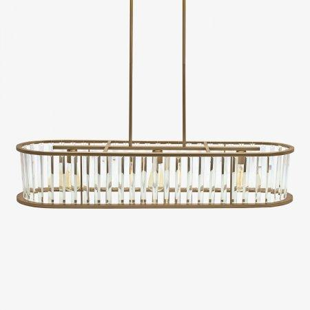 Sage Arcade LP-583 HJ Scott Vintage Brass with Glass Fringe Light Lighiting Designer Lighting