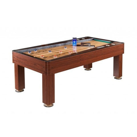 Sage Arcade Carmelli Ricochet 7 Ft. Bounce-Back Shuffleboard Table Shuffleboard Tables Carmelli