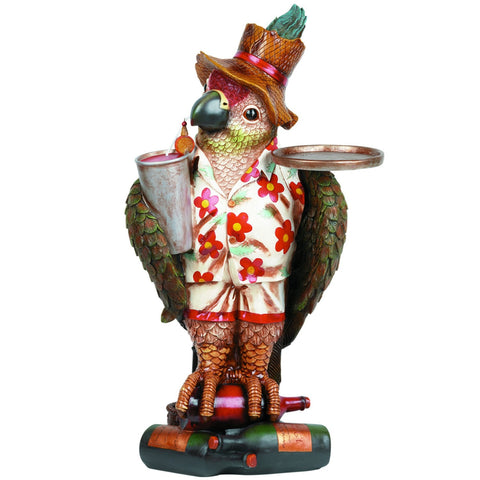 Sage Arcade Parrot Waiter Outdoor Statue ODR952 Statues RAM