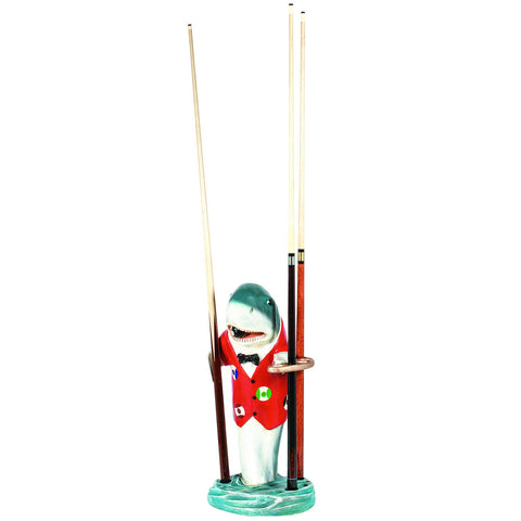 Sage Arcade RAM Game Room Statues Red Shark Pool Cue Holder R303 Billiard Cue RAM
