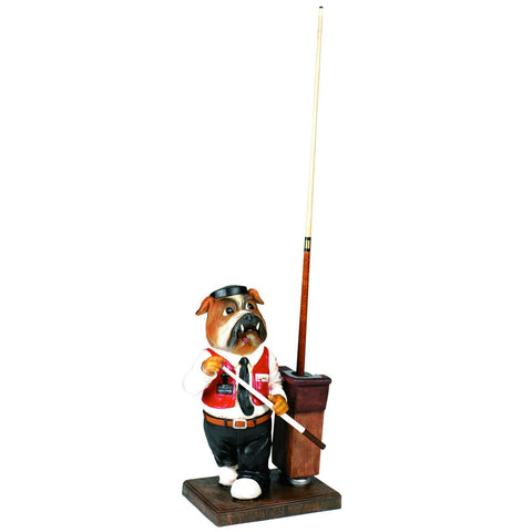 Sage Arcade RAM Game Room Statues Bulldog Pool Cue Holder R450 Billiard Cue RAM