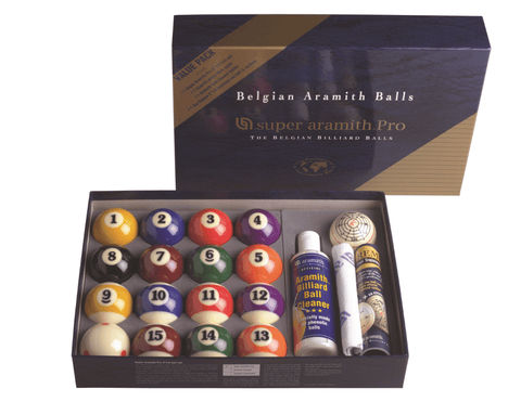 "Sage Arcade Aramith Pro 2 1/4"" Billiard Ball Value Pack Billiard Balls Aramith"
